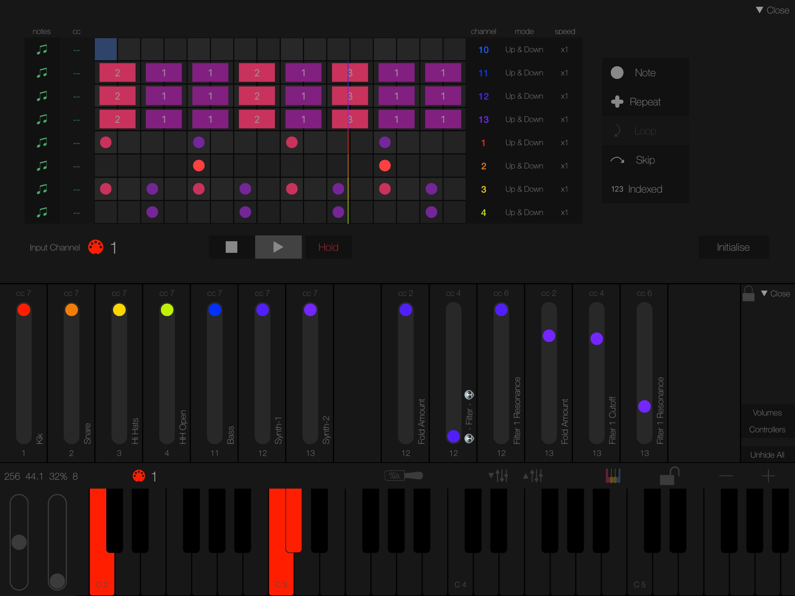 Unique Arpeggiator-Sequencer